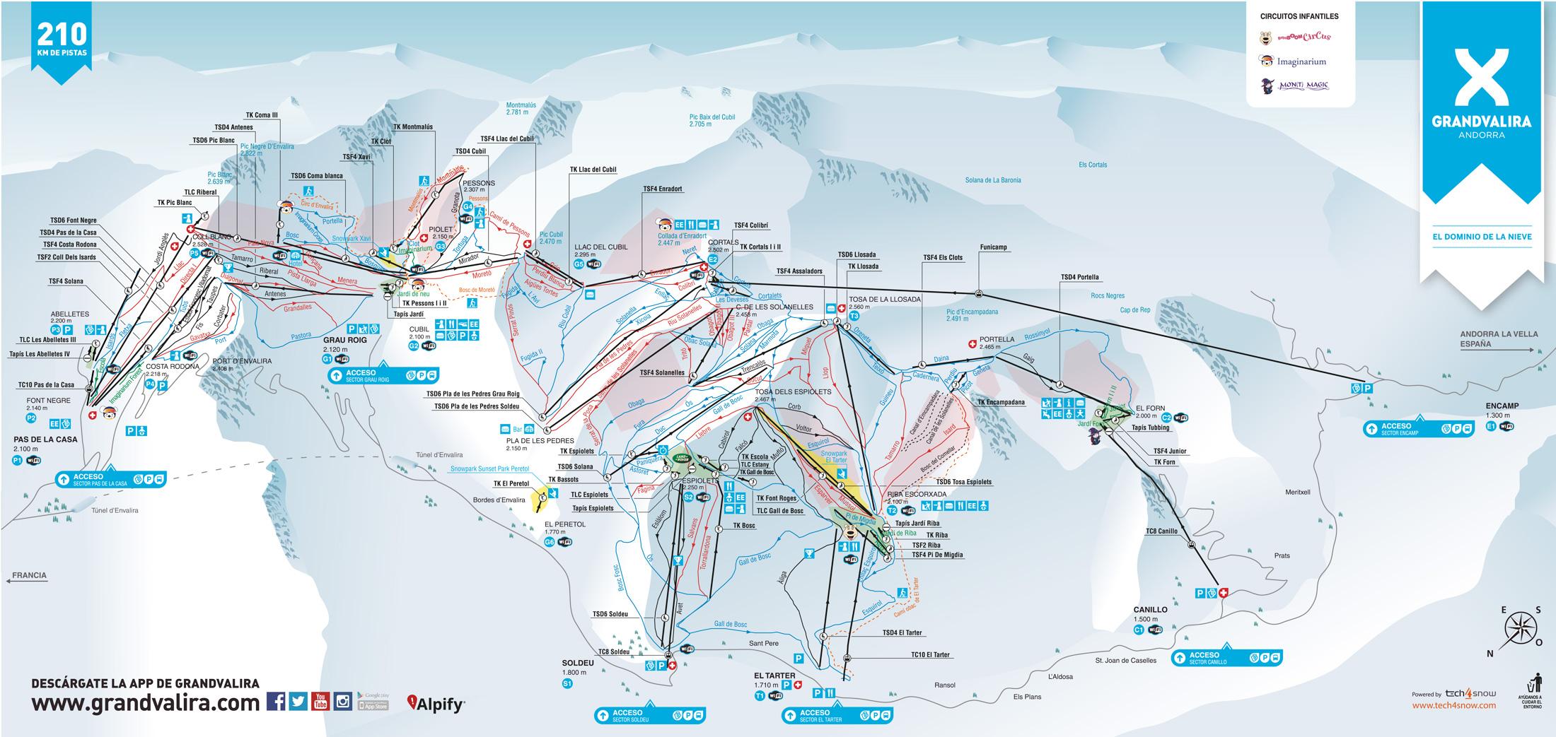 Grandvalira Trail map