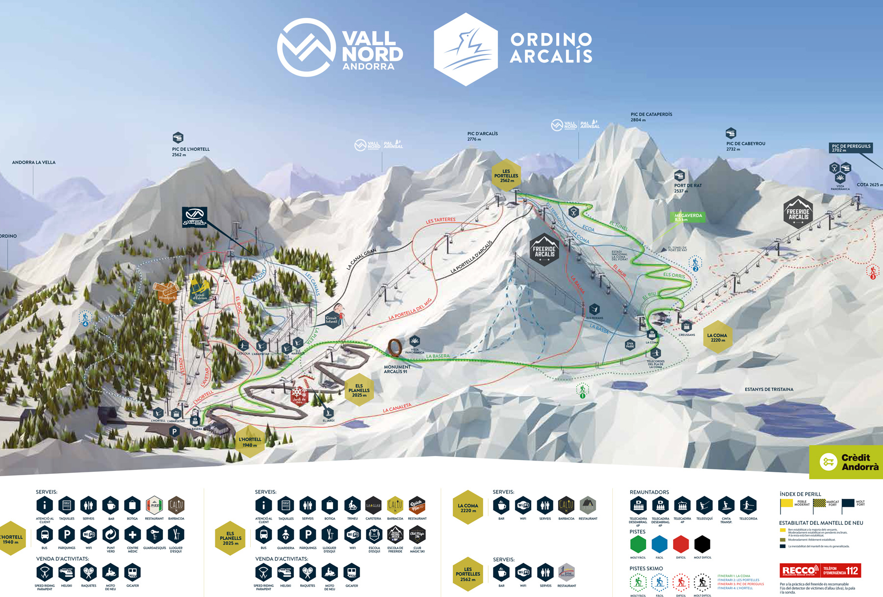 Vallnord (Ordino-Arcalis) Trail map
