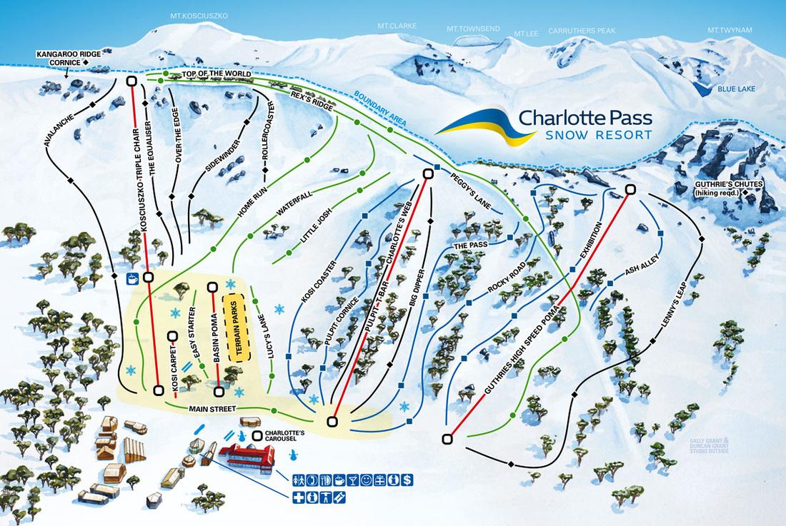 Charlotte Pass Trail map