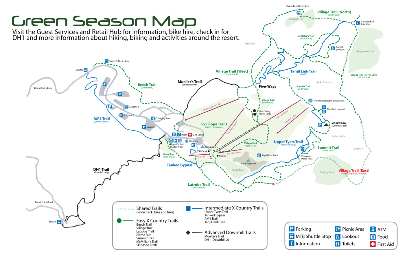 Mount Baw Baw Trail map