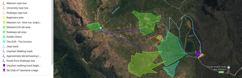 Mount Mawson Mapa pistas