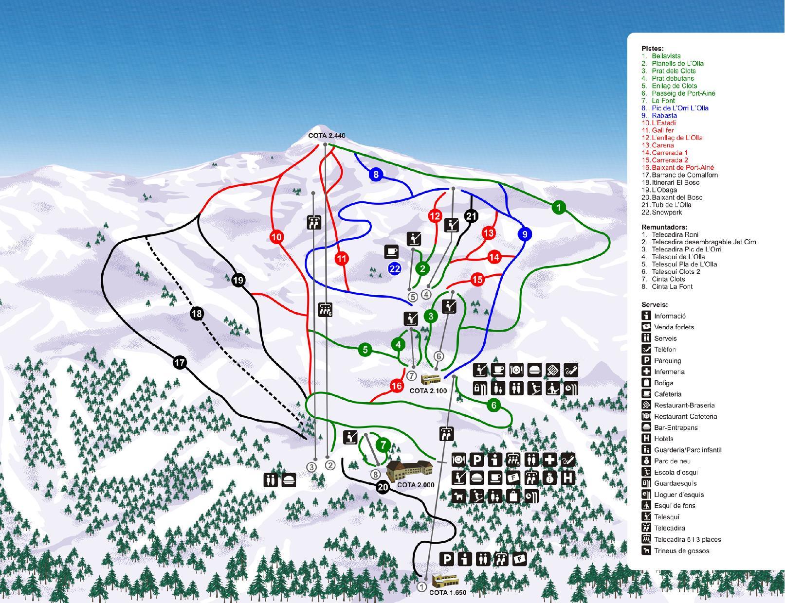 Port Ainé Trail map