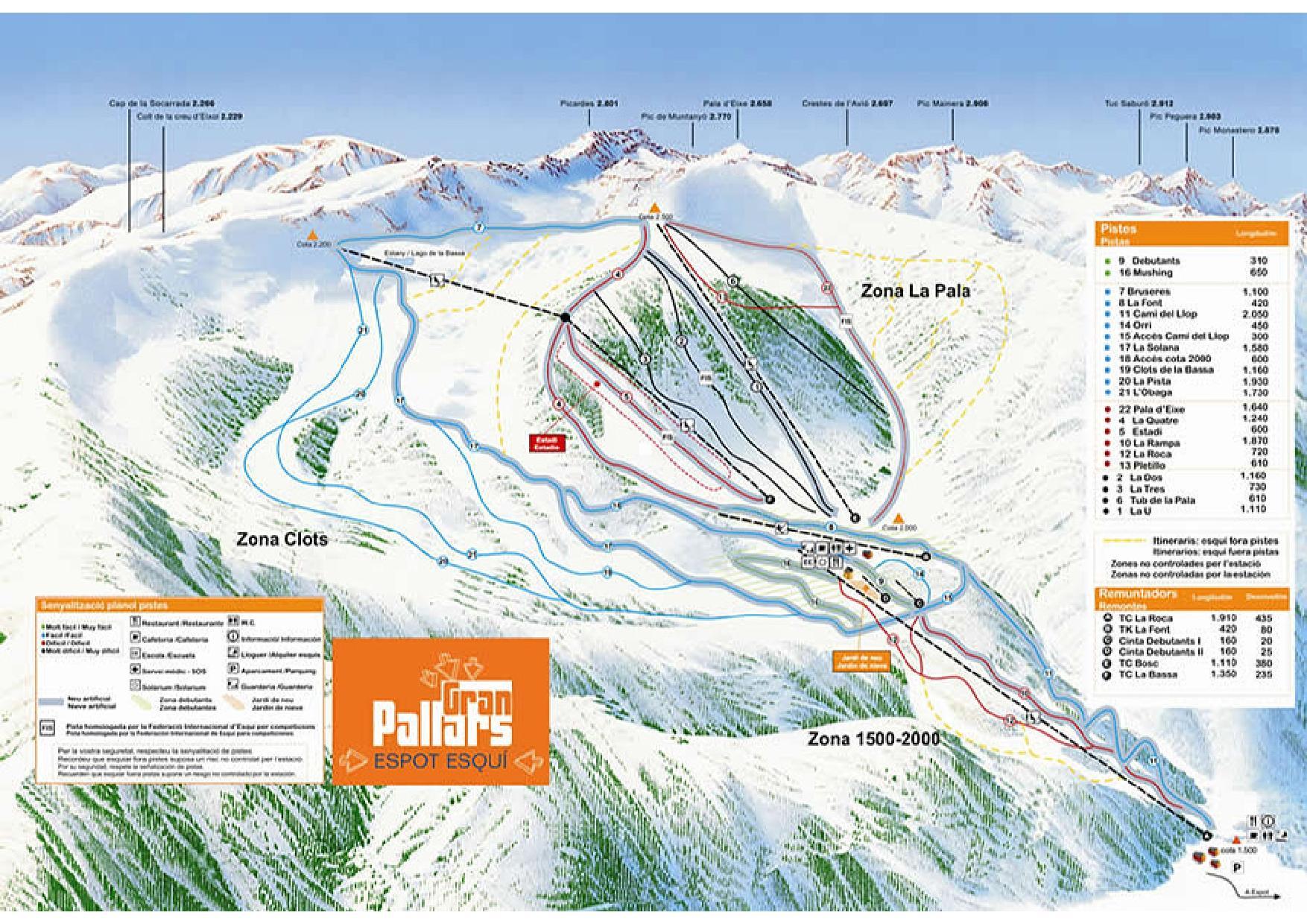 Espot Esquí Mapa pistas