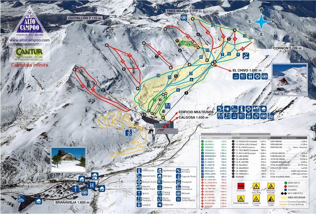 Alto Campoo Trail map