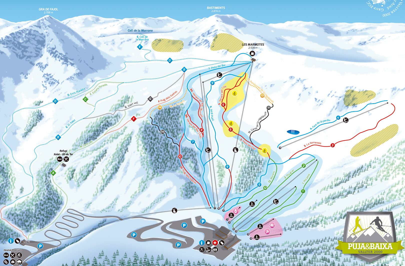 Vallter 2000 Trail map