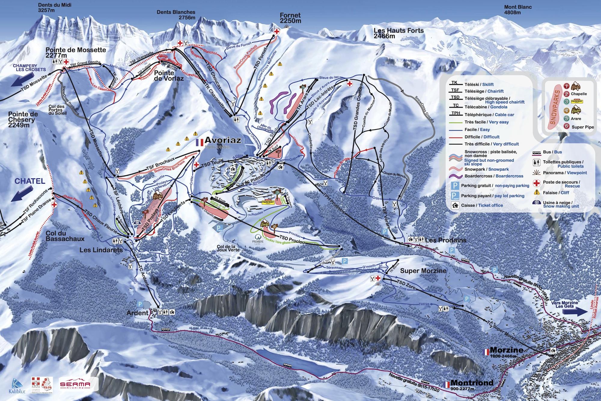 Avoriaz Trail map