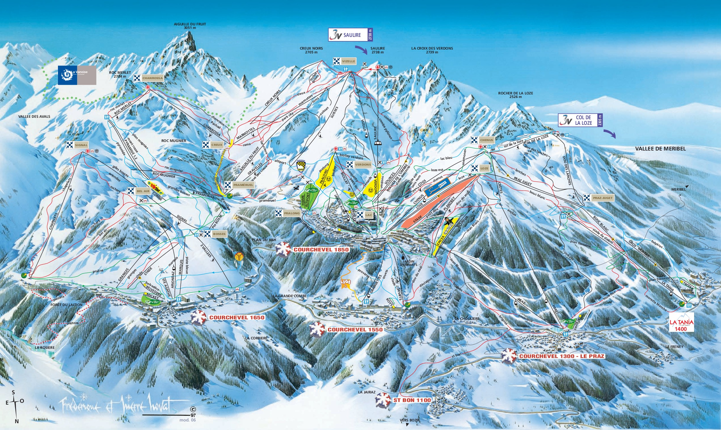 Courchevel Trail map