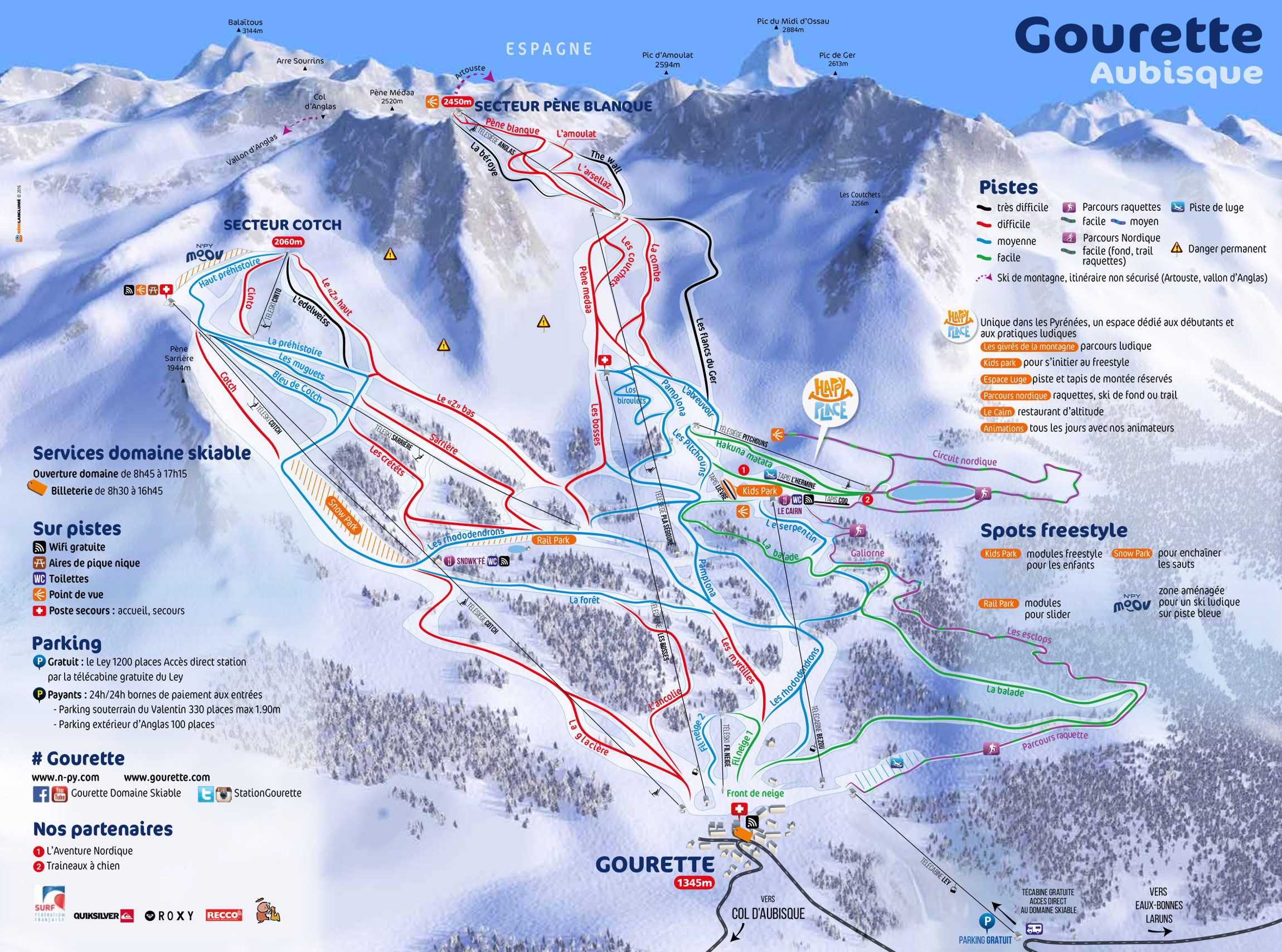 Gourette Trail map