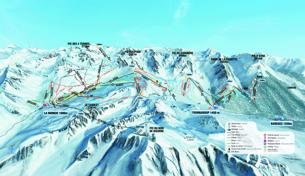 Grand Tourmalet Trail map