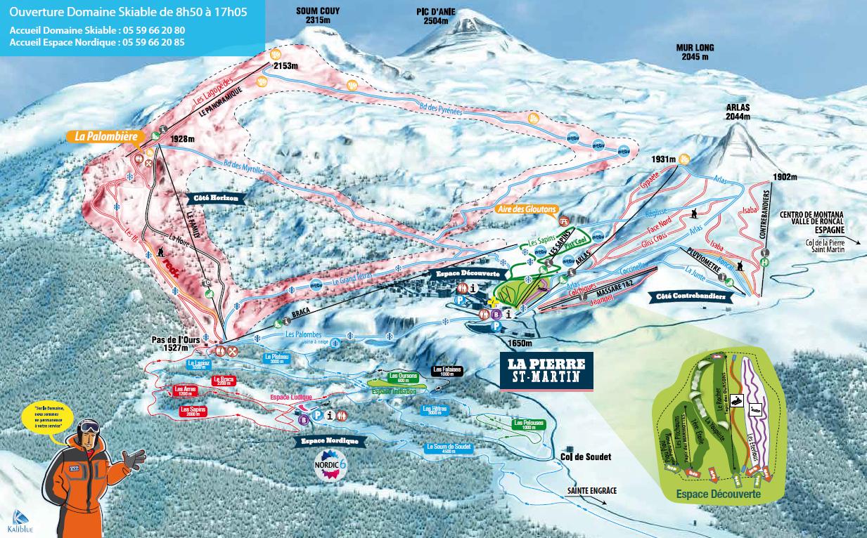 La Pierre Saint Martin - Arette Trail map