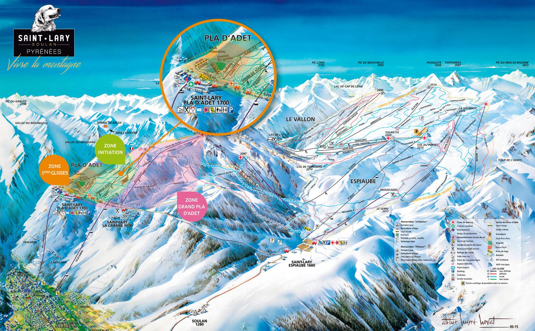 Saint Lary Trail map