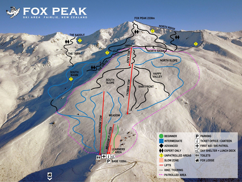 Fox peak Mapa pistas