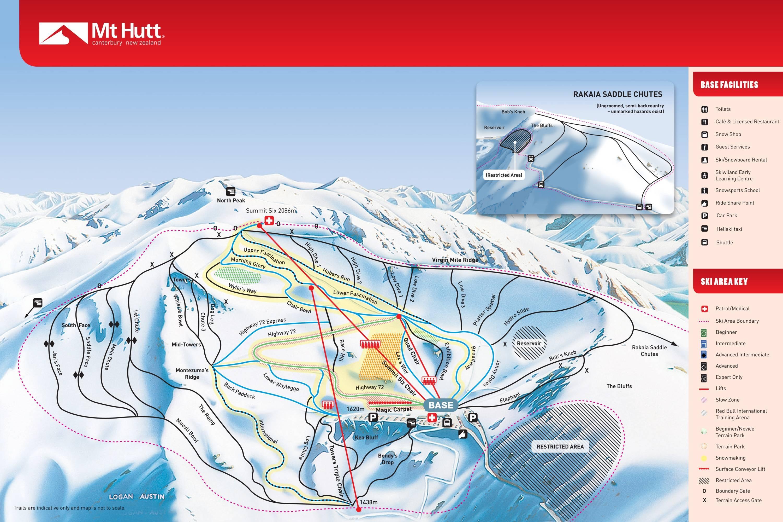 Mt Hutt Mapa pistas