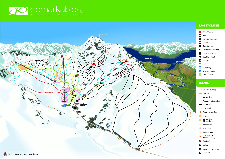 The Remarkables Plan des pistes