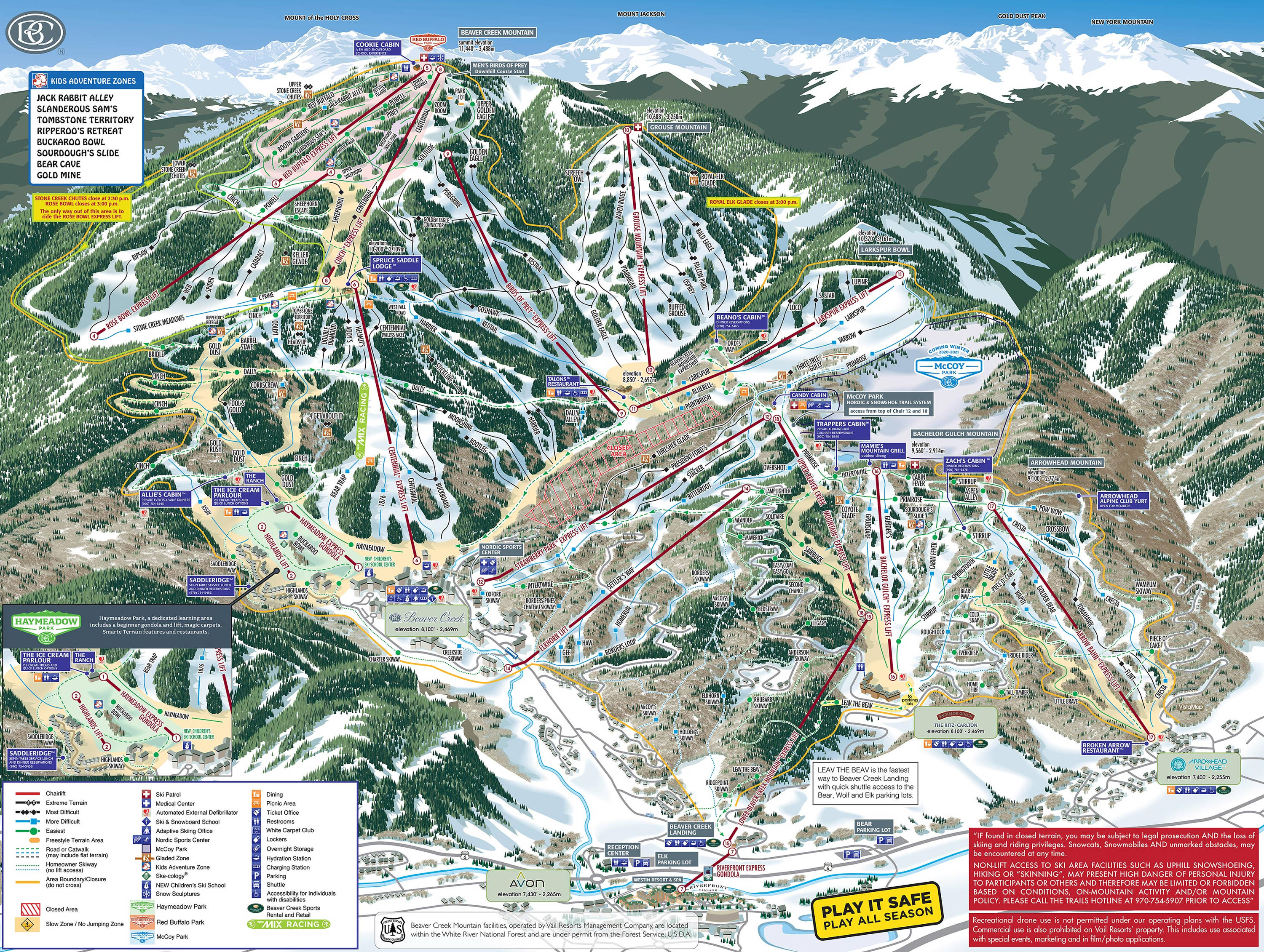 Beaver Creek  Plan des pistes