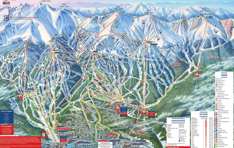 Breckenridge  Plan des pistes
