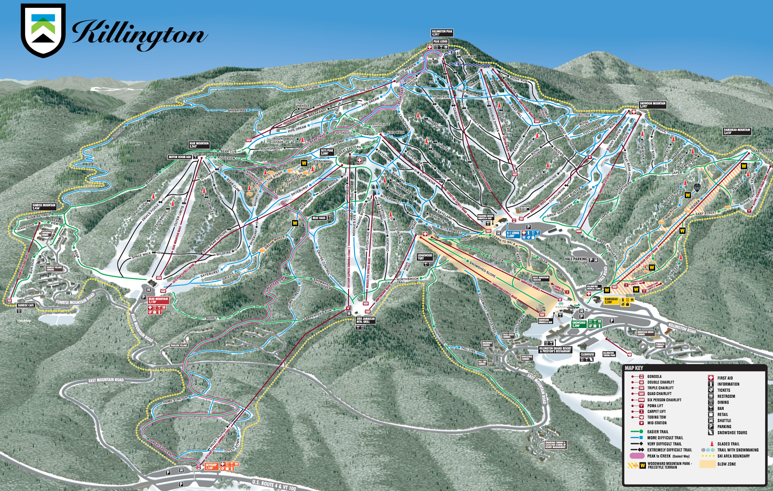 Killington  Pistenplan